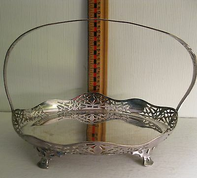 Standard's Co Of Toronto Silver Plated Basket With Fixed Handle  - Canada -1926