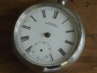 Good Antique Solid Sterling Silver Waltham Mass Gents Pocket Watch