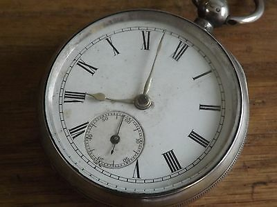 Good Antique Solid Sterling Silver Gents Pocket Watch