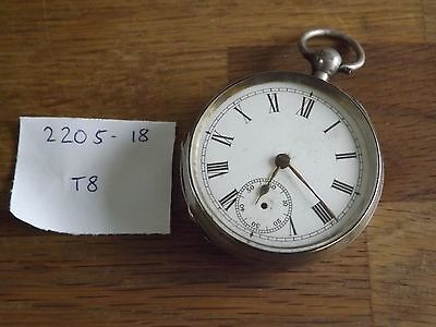 Good Antique Solid Sterling Silver Waltham Gents Pocket Watch