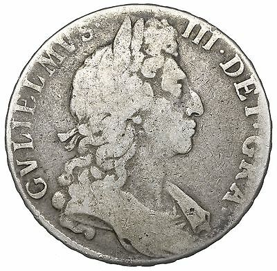 1697 Halfcrown - William Iii British Silver Coin