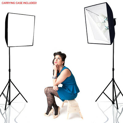 Photo Studio 2000W Video Photography Softbox Light Stand Continuous Lighting Kit