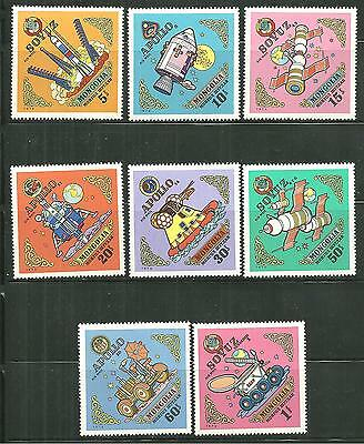 Mongolia C46-53 Mnh Us And Soviet Space Achievements