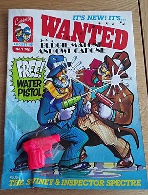 RARE - WANTED COMIC -  No 1 1st ISSUE - 1989 with free gift