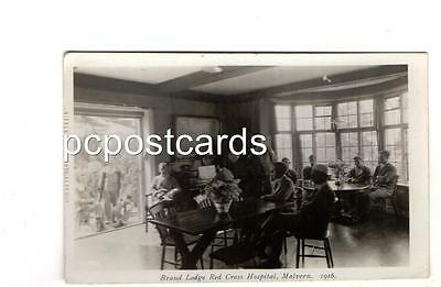Real Photo Postcard - Tilley Embossed  - Brand Lodge Red cross Hospital 1916