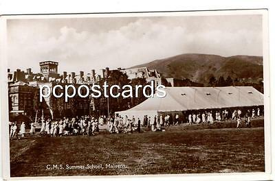 Old Real Photo Postcard C M S Summer School Great Malvern