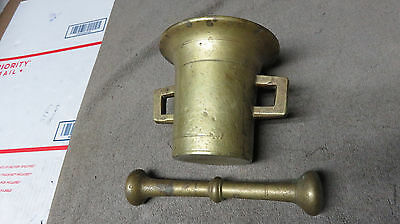 Old Brass Mortar and Pestle.