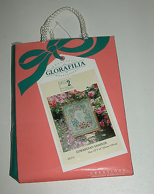 Glorafilia Needlepoint Edwardian Sampler Gl712 Sealed  Unopened But Damaged Bag