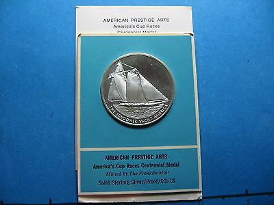 America's Cup Races Yacht 1870-1970 100Th Anniversary Silver Coin Sealed Rare Z2