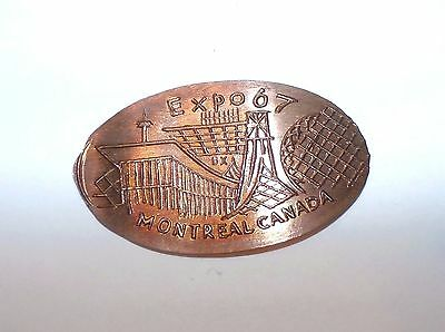 Expo 67 Montreal Canada -  ELONGATED  PENNY