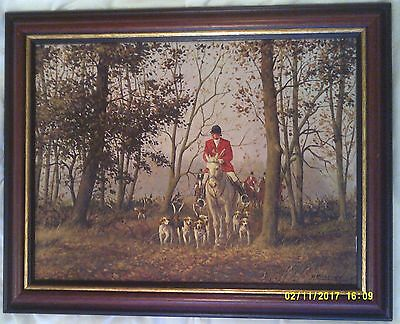 Oil on Canvas by Ron Moseley. Hunting Scene