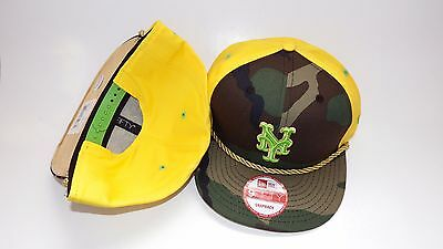 Nwt New Hat Cap New Era New York Mets Snapback Adjustable Camo Yellow Gold