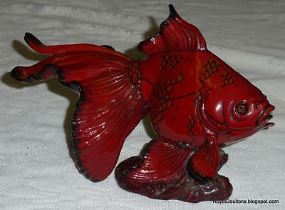 **ULTRA RARE** Gansu Fish Royal Doulton Flambe Figurine Burslem Artwares BA39