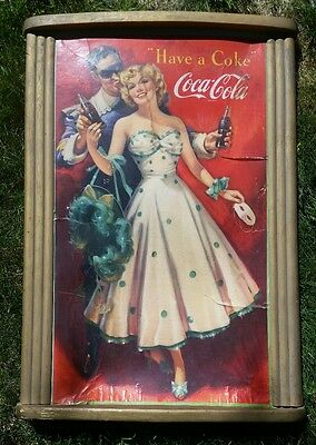 1950 coca cola cardboard poster with frame