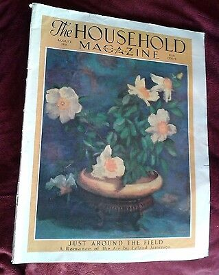 The Household Magazine August 1938 Fashion Recipes Kellogg's Ad Birch Cover