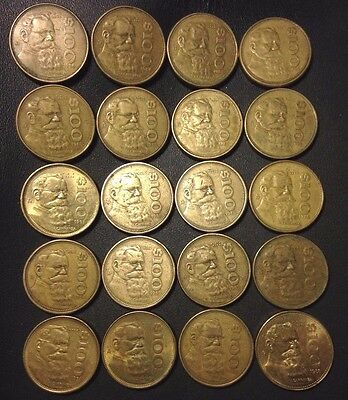 Old Mexico Coin Lot - 100 PESOS - 20 Excellent Less Common Coins - Lot #M22