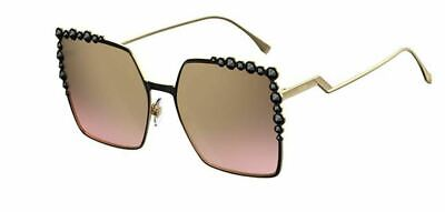New Fendi FF 0259 S 205/53 Can Eye Black Gold/Brown Pink Sunglasses