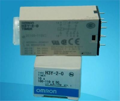 New 1Pcs Timer Relay H3Y-2-0 100-110VDC Omron Plc Module uv