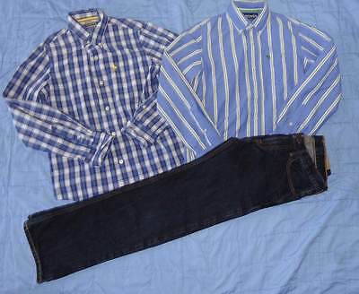 New Abercrombie Jeans & Button Down Shirts Lot Of 3 Size 14 Boys Nwots