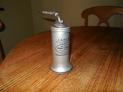 VINTAGE EAGLE NO.33F 6oz PUMP OILER CAN w/ SPOUT MADE IN USA VERY GOOD CONDITION