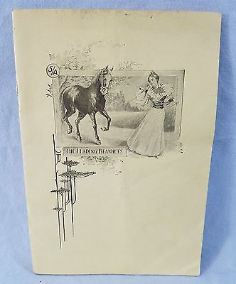 Rare Late 1800's Sales Catalog 32 Pgs 5/A Baker Horse Blankets NO Reserve