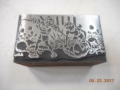 Printing Letterpress Printers Block, Calendar Month Of July, Printers Cut