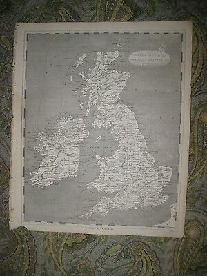 Superb Antique 1805 England Ireland Scotland Wales Great Britain Copperplate Map