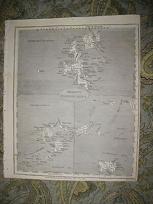 Antique 1805 Shetland Scilly Jersey Guernsey Islands British Isles Map Superb Nr