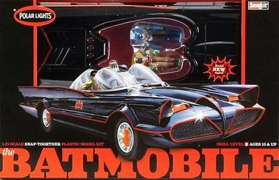 1966 Batmobile Snap-Together 1/25 scale skill 2 Polar Lights kit#824