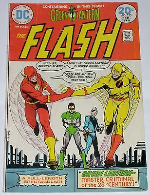 Flash #225 from Feb 1974 VG- to VG+ Reverse Flash & Green Lantern