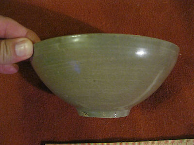 Vintage Antique Korean OliveGreen Celadon Bowl Very Fine Condition Koryo Dynasty