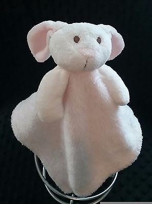 Blankets and Beyond Pink White Bunny Rabbit Lovey