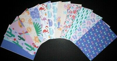 """ISLANDIA""   Scrapbooking/Cardmaking Papers X 12 - 15cm x 10cm (6"" x 4"")"