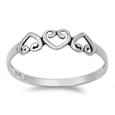 Sterling Silver Woman's Love Heart Simple Ring Fashion 925 Band 4mm Sizes 3-10