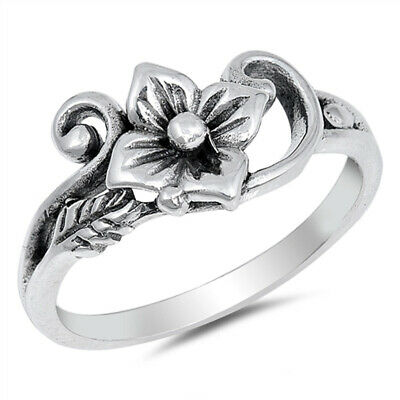 Eternity Abstract Leaf Cutout Filigree Ring .925 Sterling Silver Band Sizes 4-10