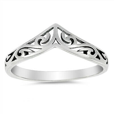 Filigree Celtic Chevron Thumb Ring 925 Sterling Silver Victorian Band Sizes 3-13