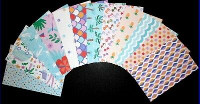 "Scrapbooking/Cardmaking Papers ""ISLANDIA""   X 12 - 15cm x 10cm (6"" x 4"")"