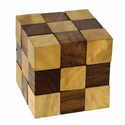 Wooden Puzzle Adult Snake Cube Handmade Gifts India