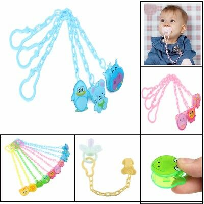 Cartoon Baby Dummy Pacifier Soother Nipple Chain Clip Buckle Holder Toddler Toy