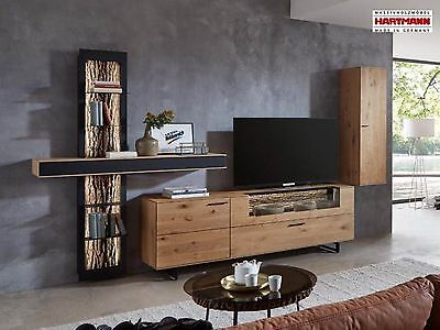 wohnwand anbauwand hartmann caya kerneiche umato. Black Bedroom Furniture Sets. Home Design Ideas
