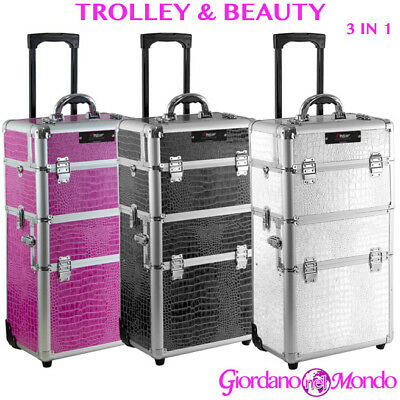 Trolley Estetista Parrucchiere Make Up Nail Art Porta Atrezzi Rigido