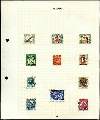 Hungary Album Page Of Stamps #V4502