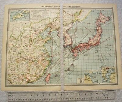 c1907 Harmsworth Plate No. 125-126 The Far East, Industries & Communications