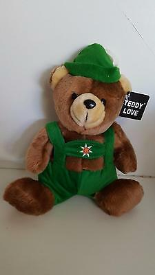 "Cuckoo Restaurant YODEL teddy bear 11"" plush toy excellent condition NWT"