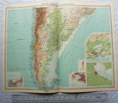 1922 The Times Plate 100 South America Southern section
