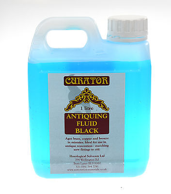 Curator Black Antiquing Patination Fluid Solution 1 Ltr