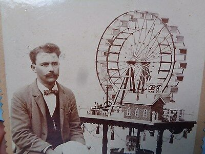 AMAZING 1800's PHOTO  **STEAM ENGINE** MODEL CIRCUS FERRIS WHEEL  WITH BUILDER
