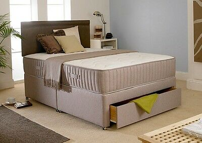 5ft 5'0 KING SIZE 1500 POCKET MEMORY FOAM BED DIVAN+MATTRESS+HEADBOARD