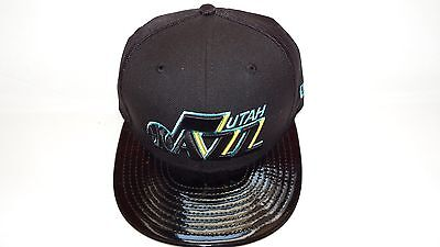 Nwt New Era Hat Cap Fitted Utah Jazz Size 7 Black  Blue Yellow Nba