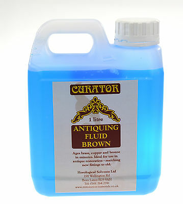 Curator Brown Antiquing Patination Fluid Solution 1 Ltr